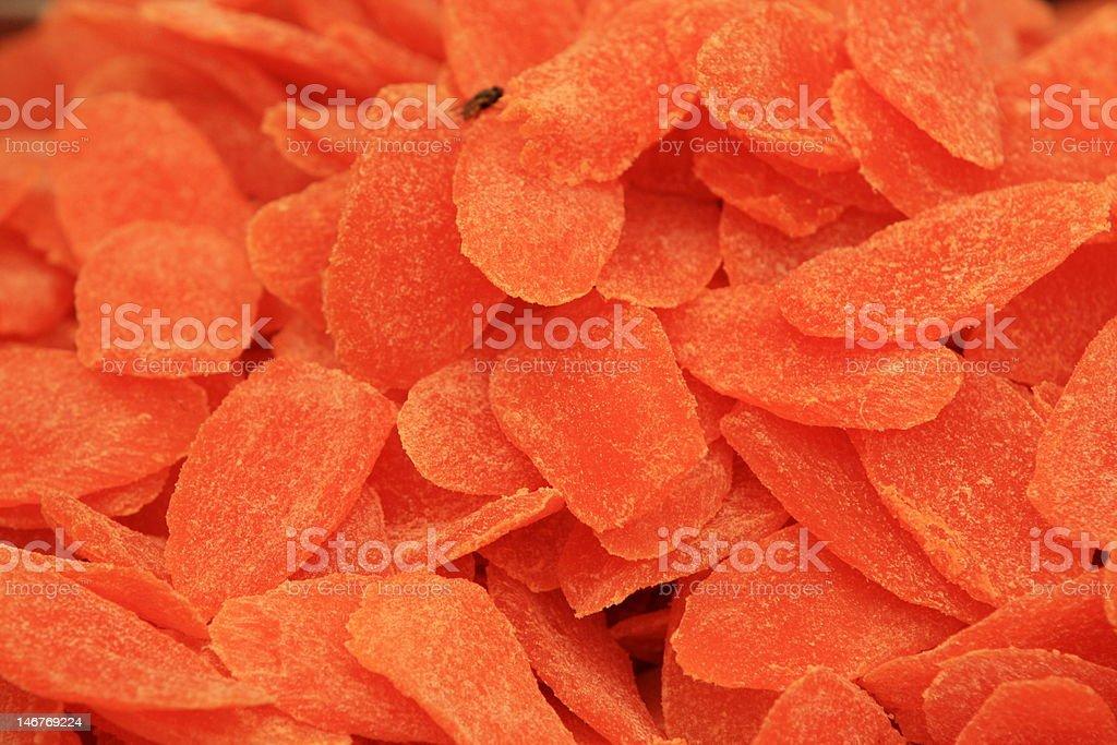 Dried Papaya royalty-free stock photo