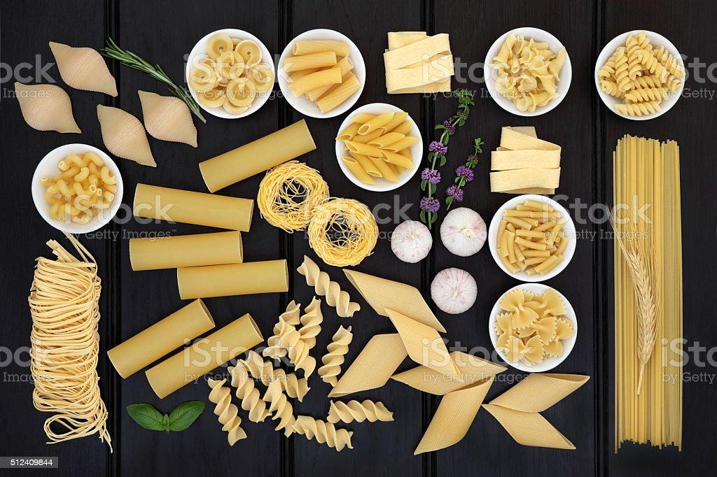 Dried Pasta Variety stock photo