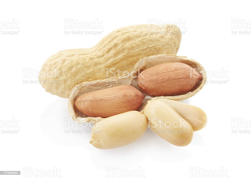 Dried peanuts group royalty-free stock photo
