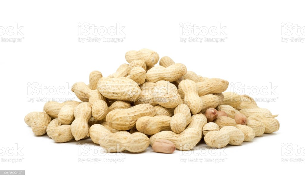 Dried peanuts in closeup - Royalty-free Brown Stock Photo