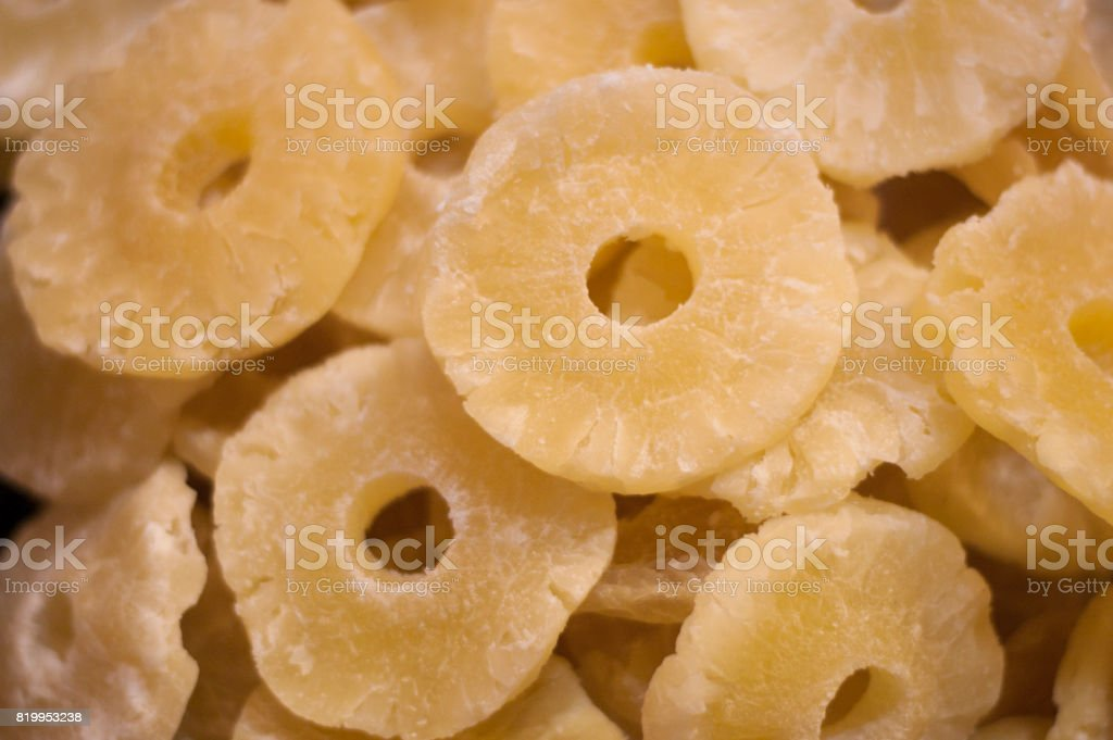 Dried Pineapple Rings stock photo