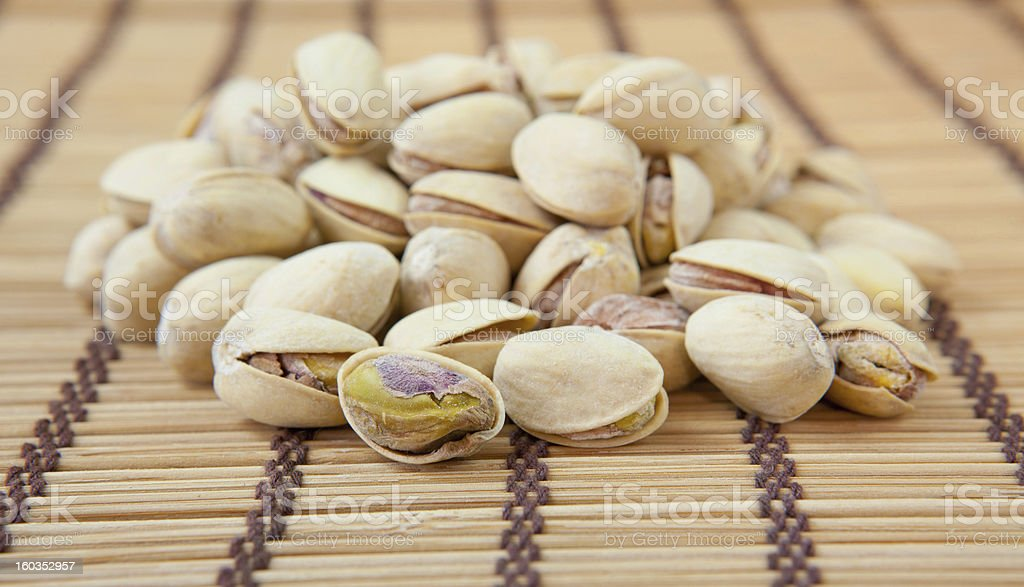 Dried pistachios royalty-free stock photo