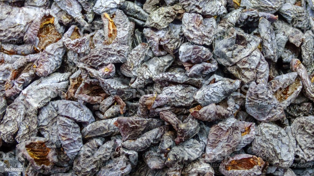 Dried plum stock photo
