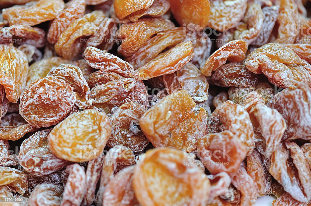 Dried plums fruit stock photo