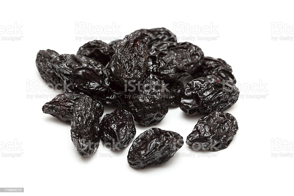 Dried Prunes royalty-free stock photo
