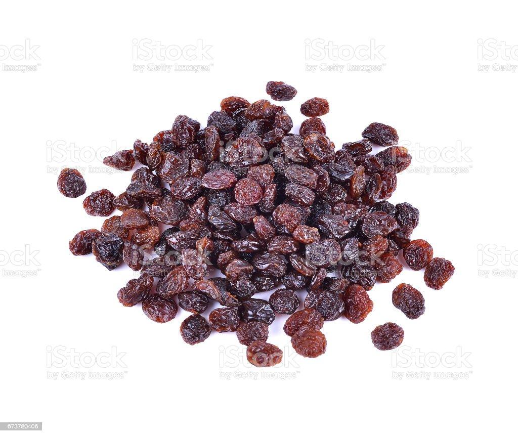 raisins secs sur fond blanc photo libre de droits
