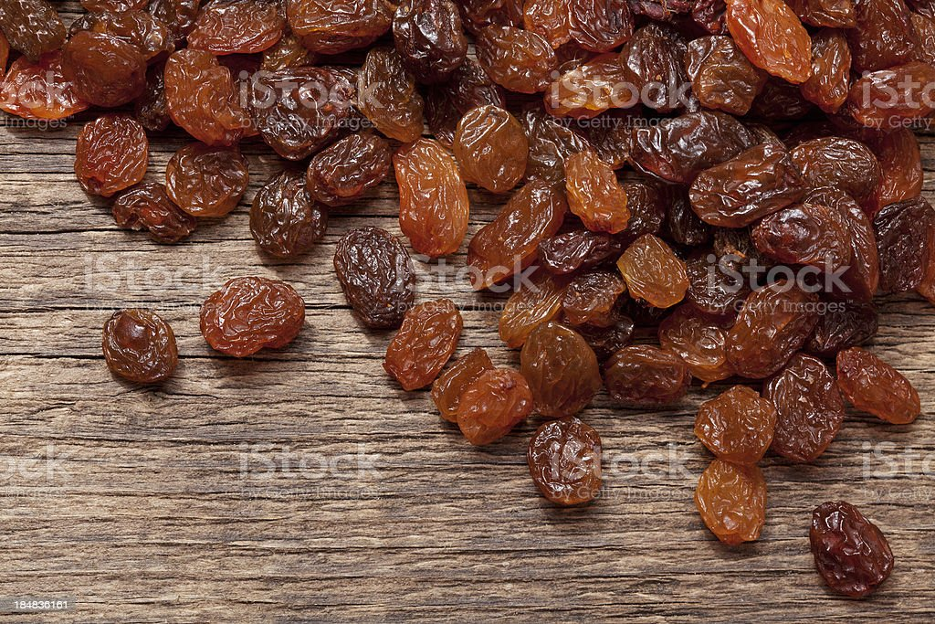 Dried raisins stock photo