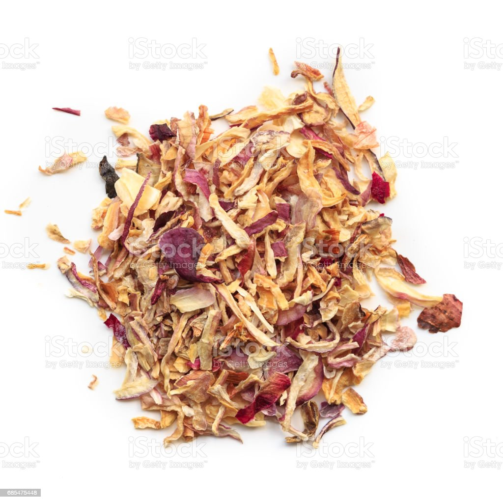 dried red onion stock photo