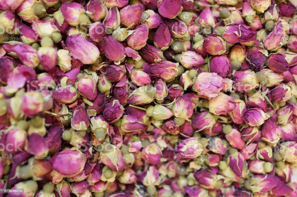 Kırmızı gül çiçeği çayı kurutulmuş royalty-free stock photo
