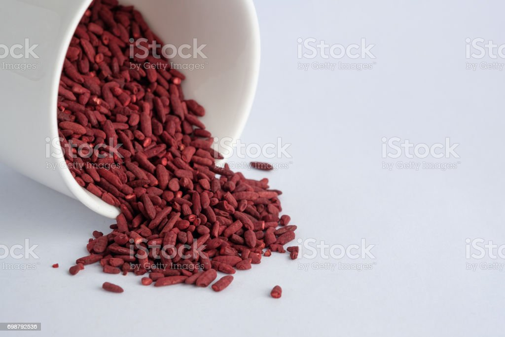 Dried red yeast rice stock photo