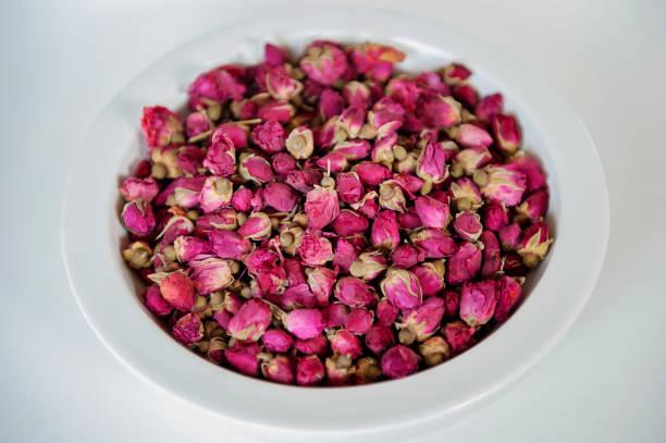 Dried Rose Bud Flowers stock photo