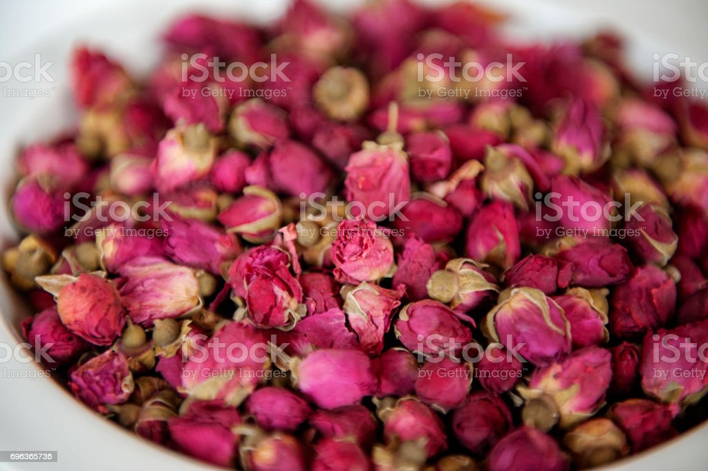 Dried Rose Bud Flowers stock photo