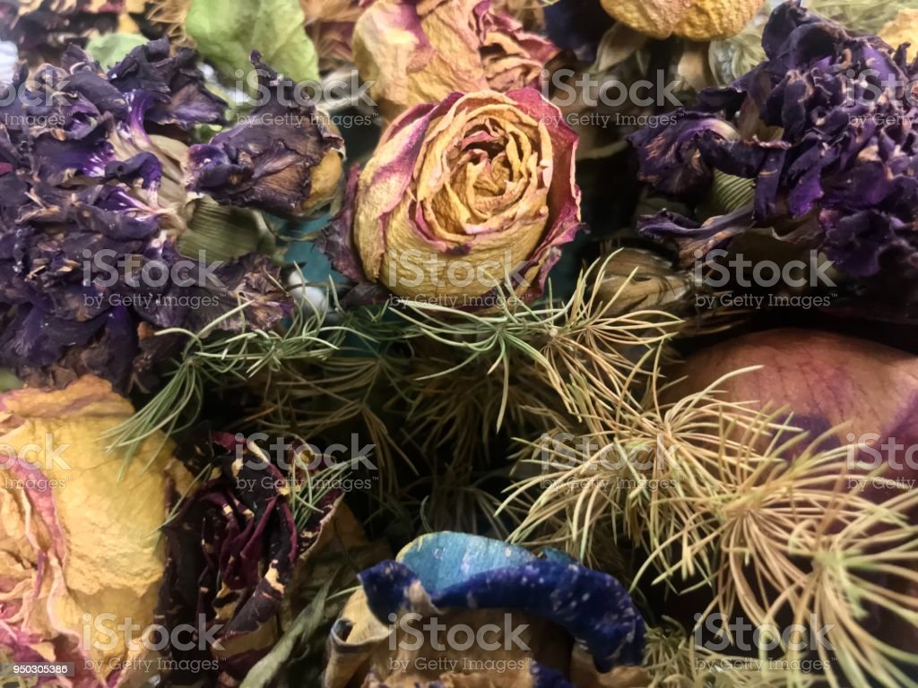 Dried Rose Flower Bouquet For Decoration Stock Photo More Pictures