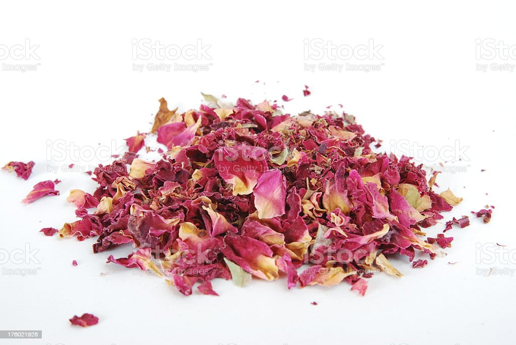 Dried Rose Petals royalty-free stock photo