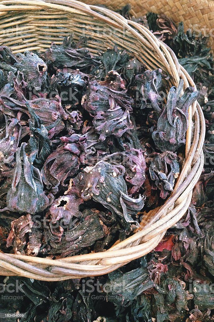 dried roselle royalty-free stock photo