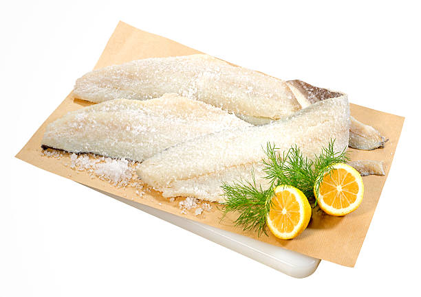 Dried Salted Cod stock photo