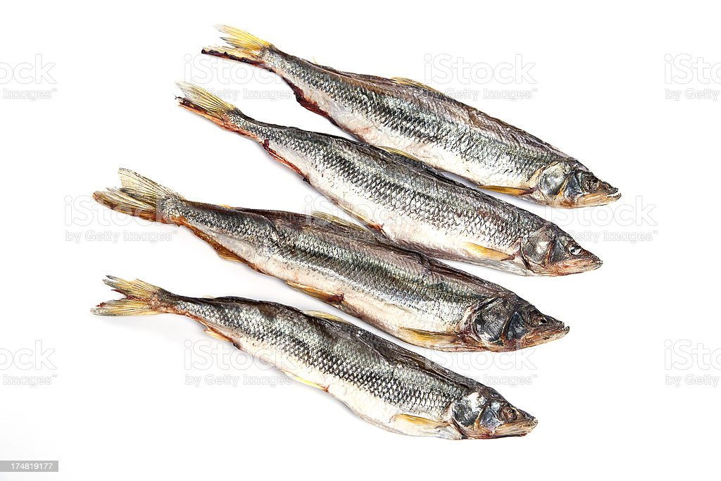 dried, salted fish stock photo