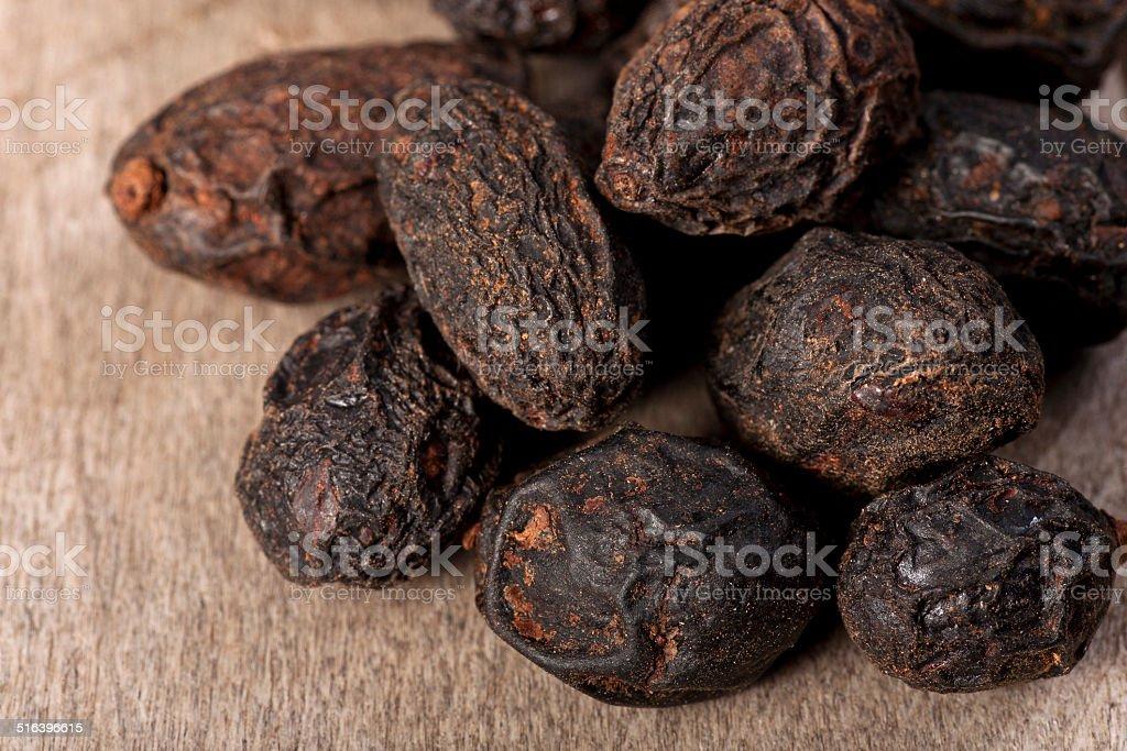 dried saw palmetto stock photo