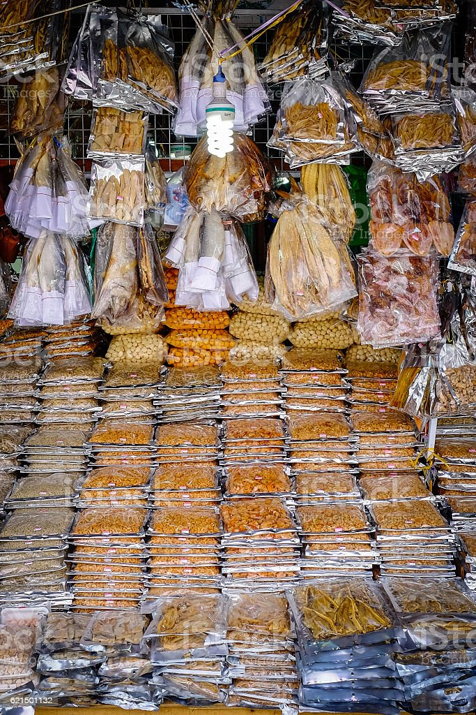 Dried Seafood for Sale photo libre de droits