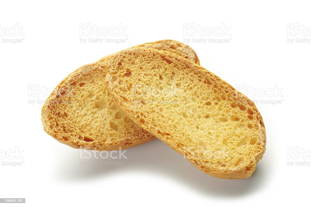 dried sliced ​​baguette royalty-free stock photo