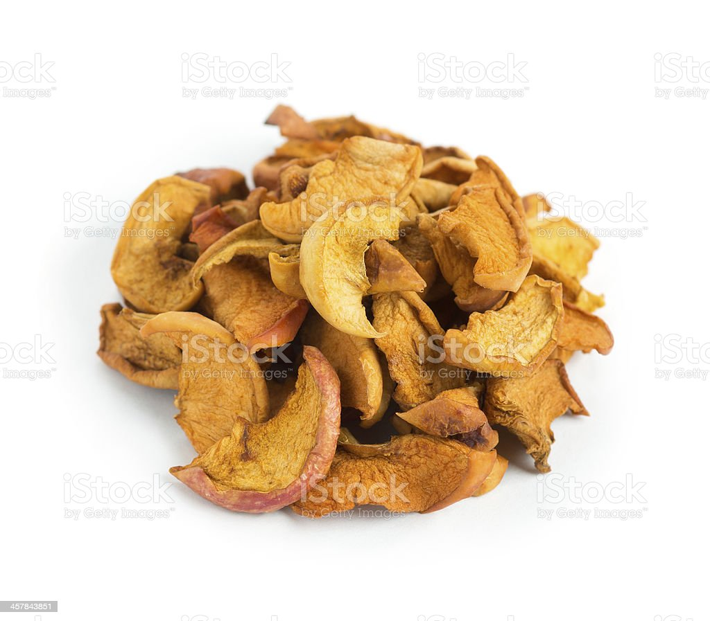 Dried slices apples stock photo