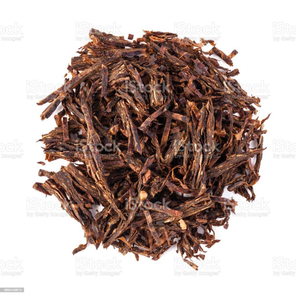 dried smoking tobacco stock photo