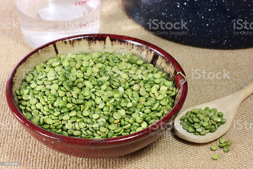 Dried Split peas royalty-free stock photo