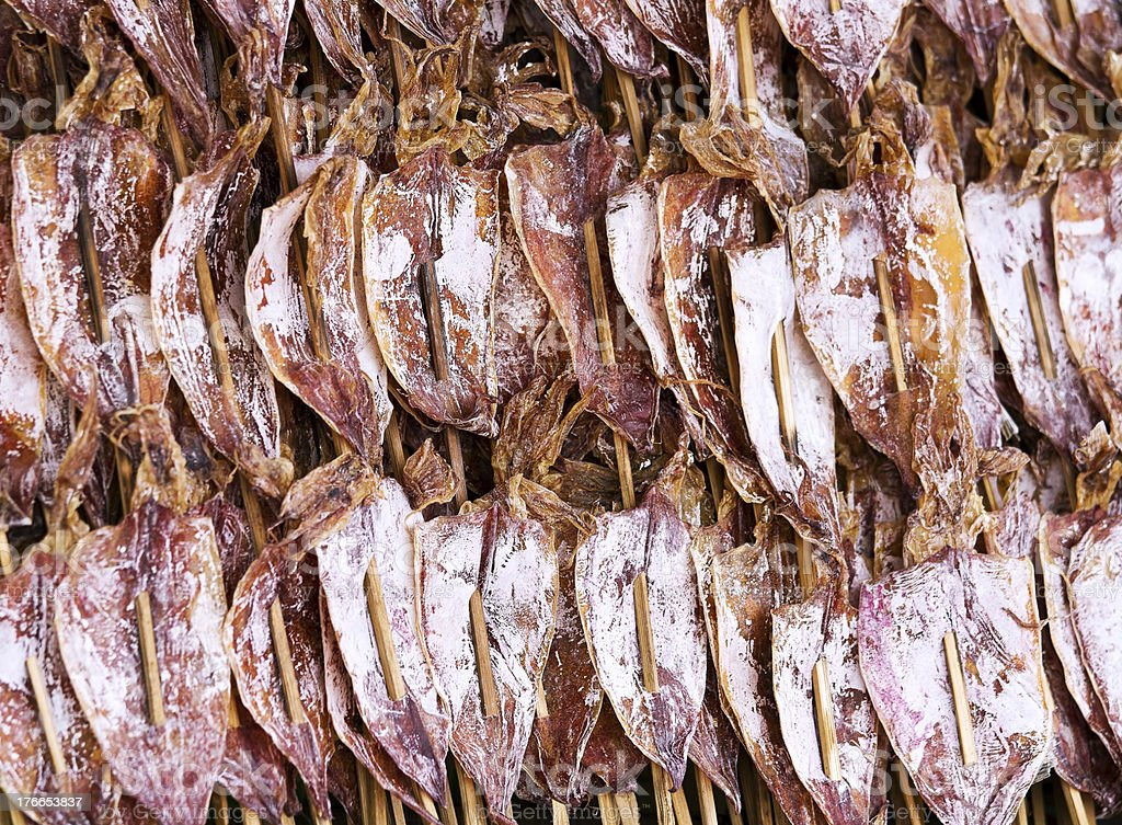 Dried squid royalty-free stock photo