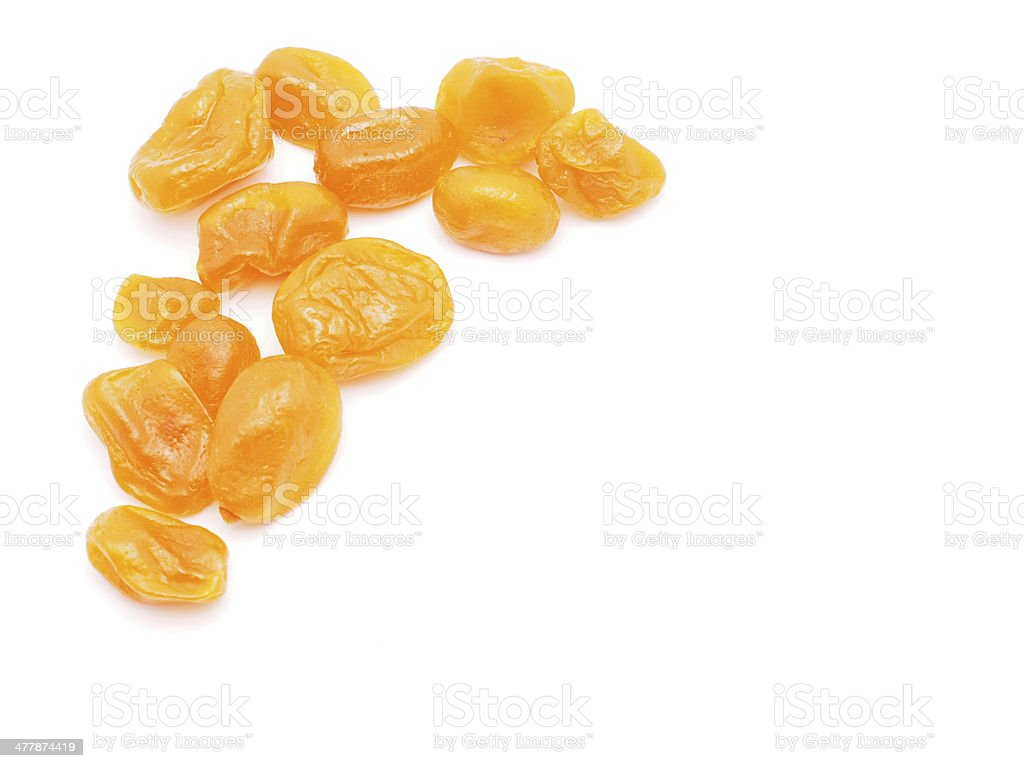 Dried tangerine on a white background royalty-free stock photo