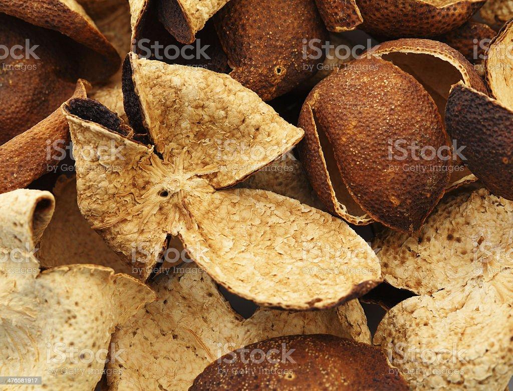 Dried tangerine peel royalty-free stock photo