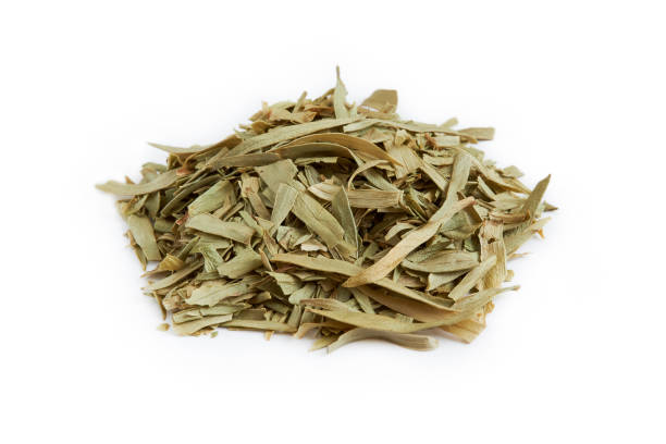dried tarragon leaves - tarragon stock photos and pictures