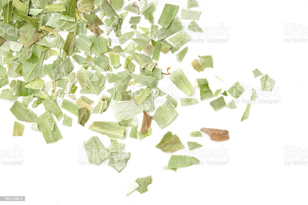 Dried Tarragon Scattered royalty-free stock photo