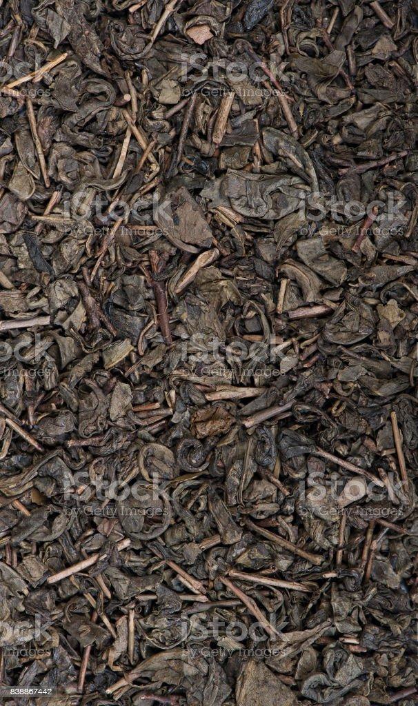 Dried tea leaves stock photo