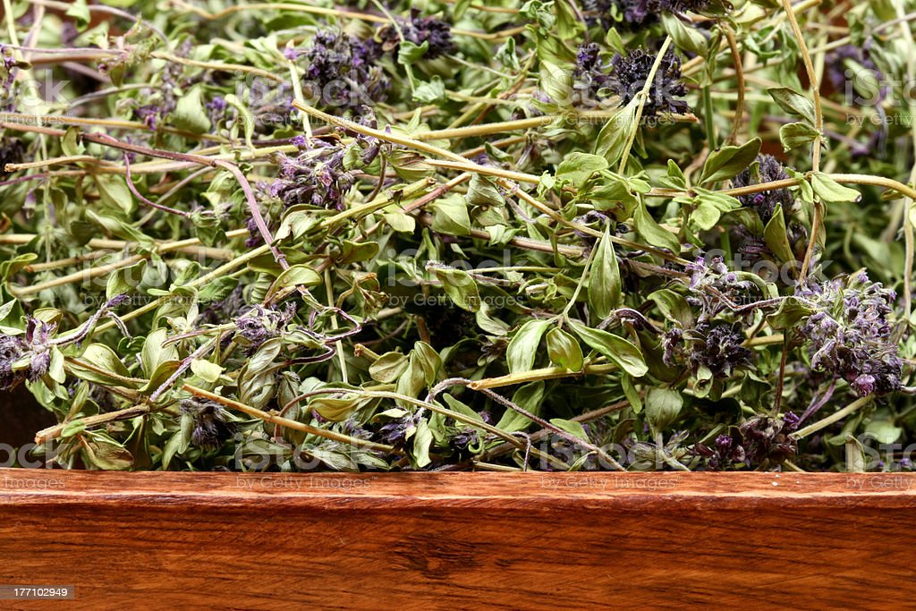 Dried thyme bowl royalty-free stock photo