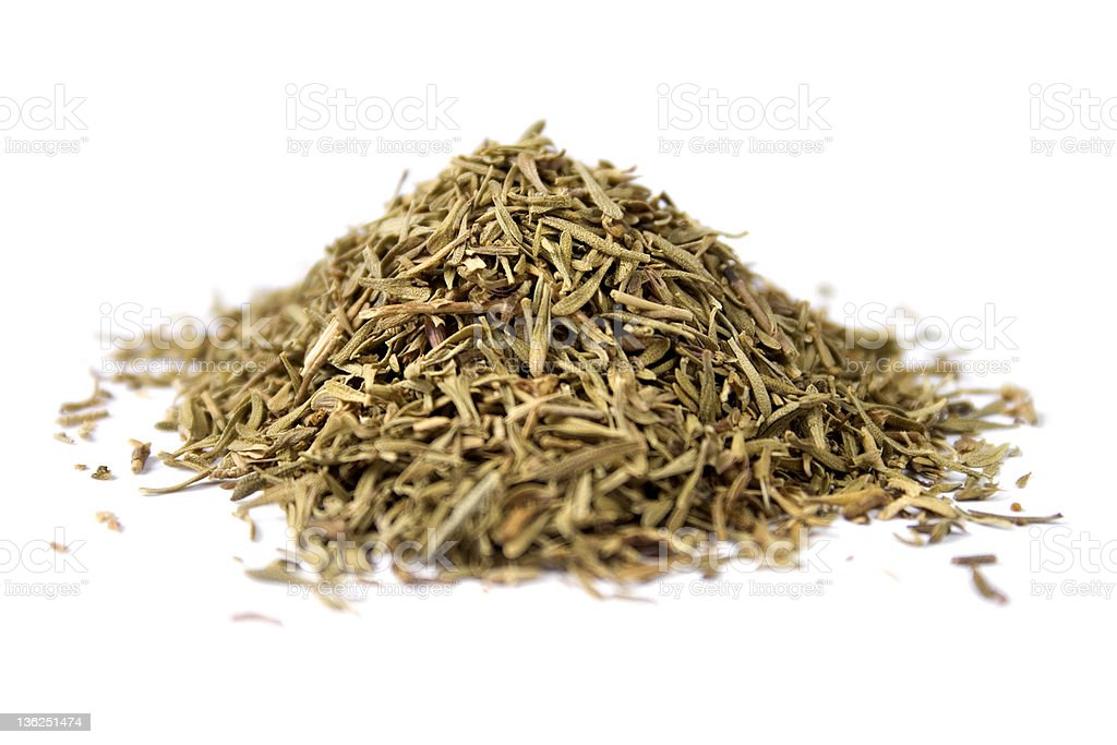 Dried thyme leaves royalty-free stock photo