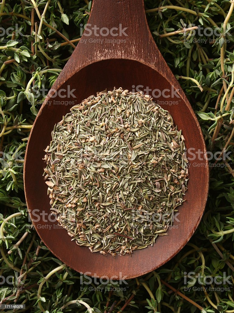 Dried thyme royalty-free stock photo