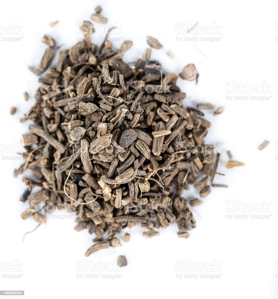 Dried Valerian roots on white – Foto