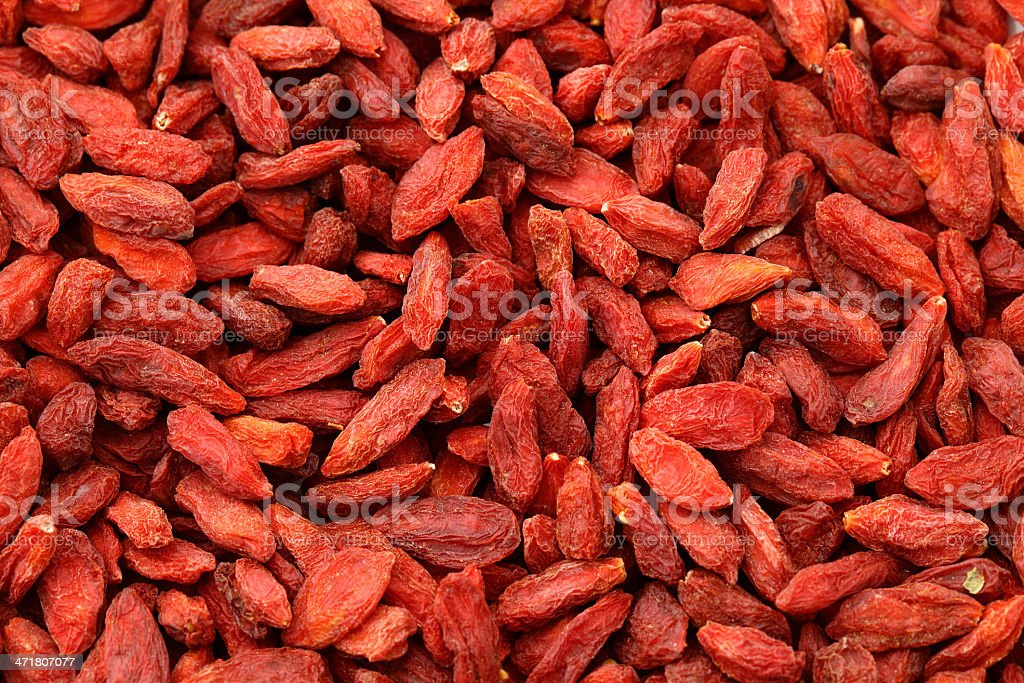 Dried wolfberry fruit background royalty-free stock photo