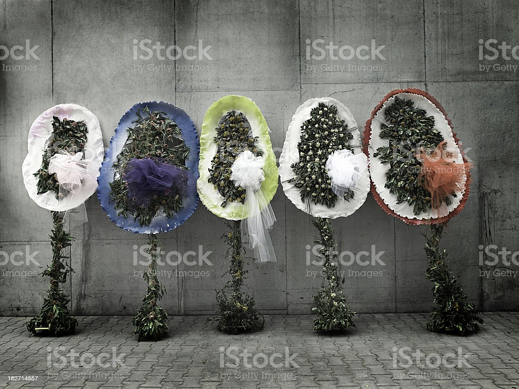 Dried wreaths stock photo
