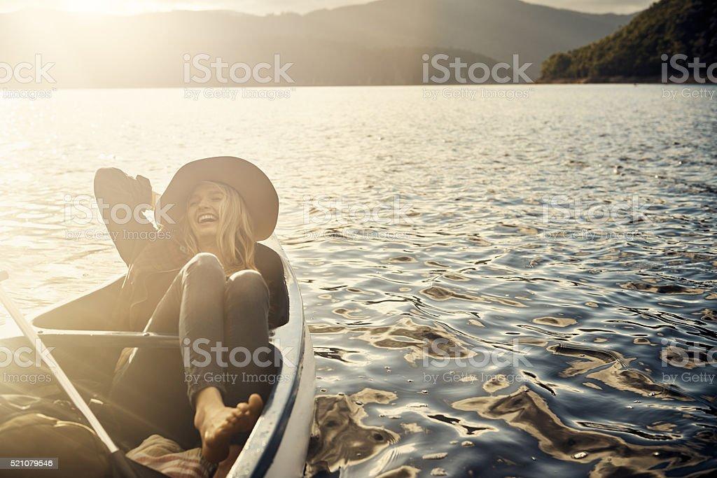 Drift away into bliss stock photo