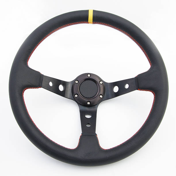 drift car steering wheel - steering wheel stock photos and pictures