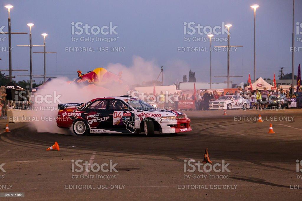 Drift - show Krasnodar, Russia stock photo