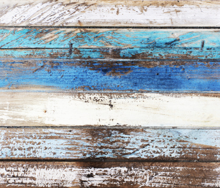 Drift wood in nautical colors