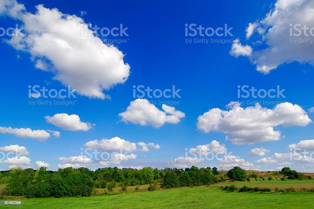 Drifting Clouds royalty-free stock photo