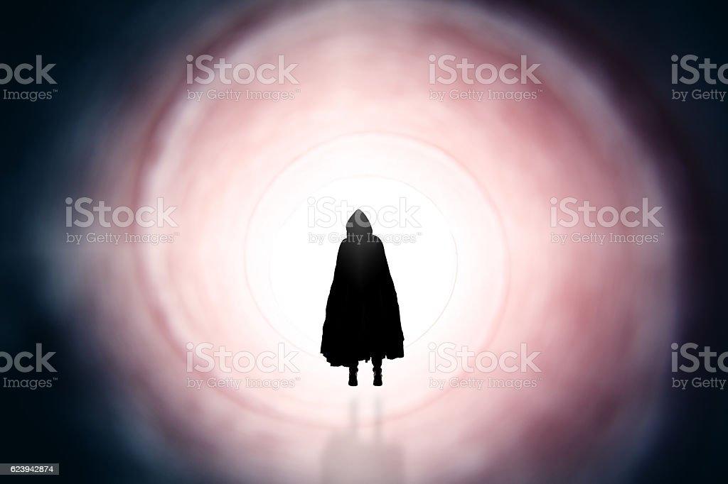 Drifting Dark Soul stock photo