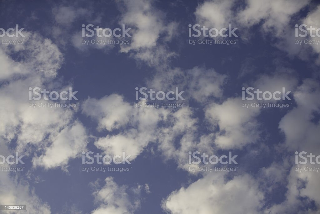 Drifting in the clouds stock photo
