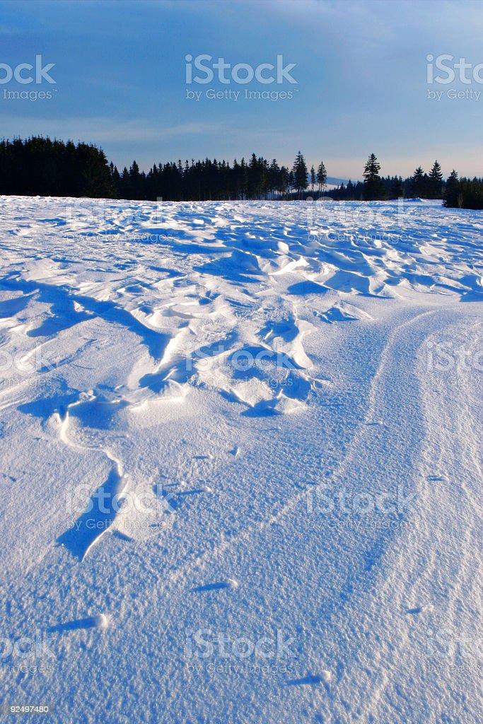 Drifting snow royalty-free stock photo