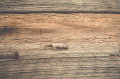 Weathered textured wooden wall background, driftwood planks arranged horizontaly