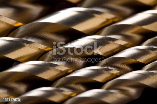 Close-up of drill bits.