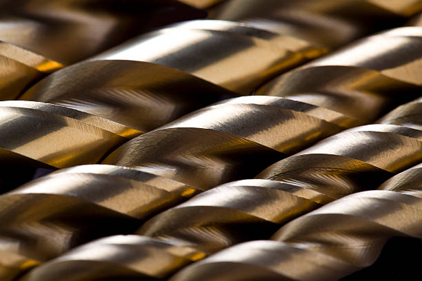 Drill Bits Close-up of drill bits. drill bit stock pictures, royalty-free photos & images
